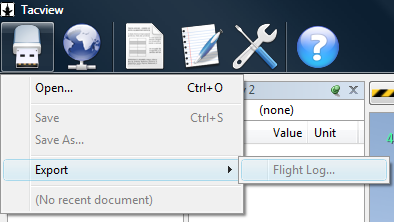 File -> Export -> Flight Log